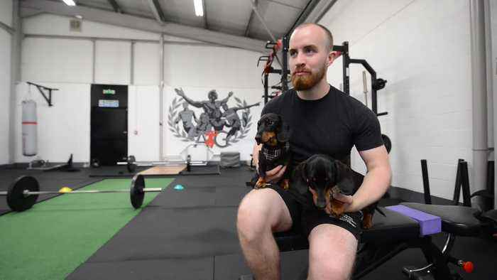 Trainer lets his clients bring their DOGS to gym