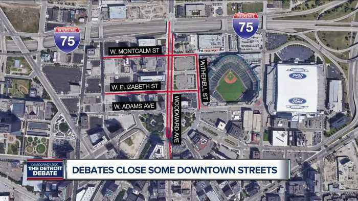Street closures announced for Democratic debates