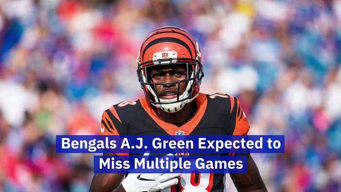 Bengals A.J. Green Expected to Miss Multiple Games