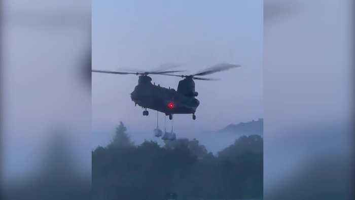 RAF Chinook drafted in to Whaley Bridge due to reservoir collapse fears
