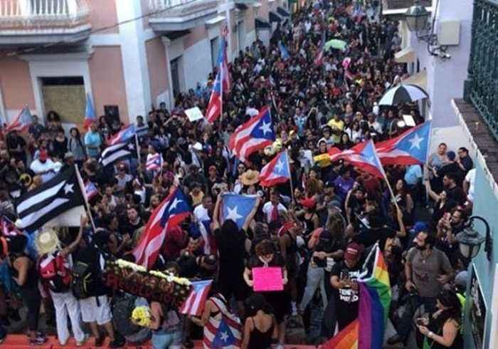Jubilant Demonstrators Celebrate as Puerto Rico's Rossello Steps Down