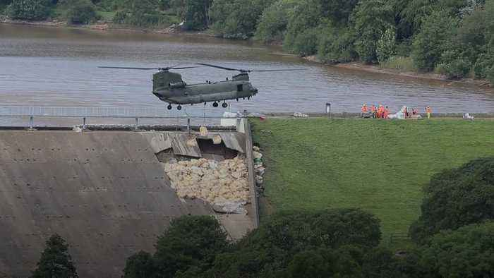 Whaley Bridge: Residents briefly allowed home as repairs continue