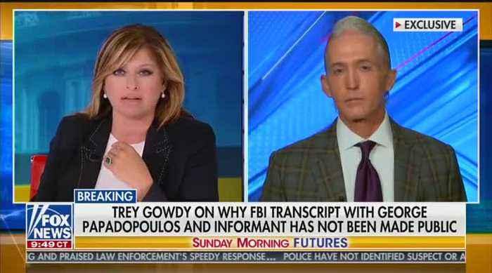 Trey Gowdy talks Mueller investigation on Fox News' 'Sunday Morning Futures'