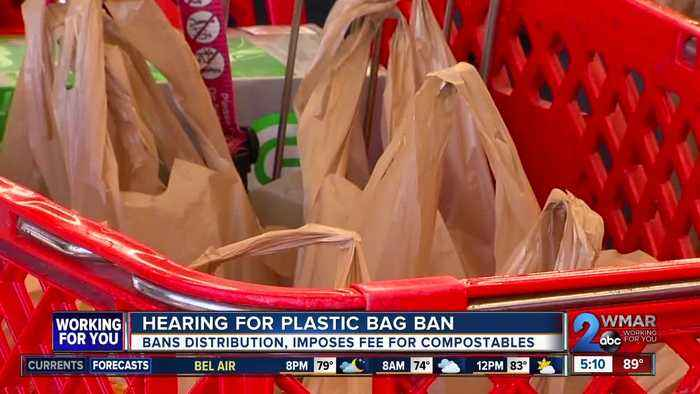 Hearing held for plastic bag ban in Baltimore