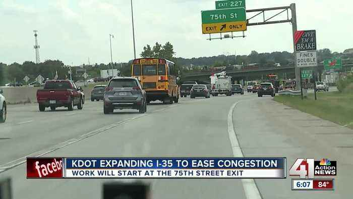 KDOT expanding I-35 to east congestion