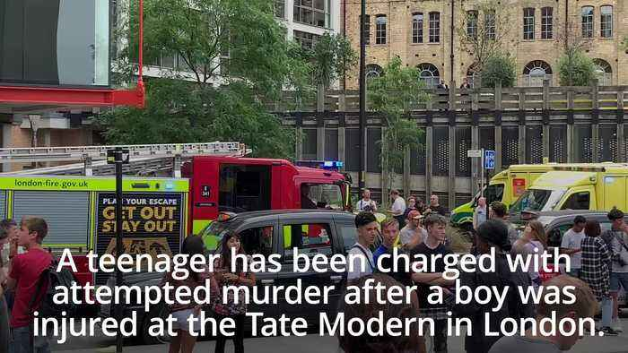 Tate Modern incident: Teenager charged with attempted murder