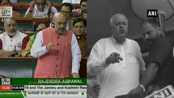 Farooq Abdullah neither detained nor arrested', says Amit Shah in Lok Sabha
