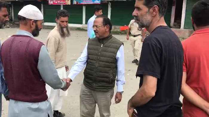 Watch: NSA Ajit Doval interacts with locals in Jammu and Kashmir's Shopian