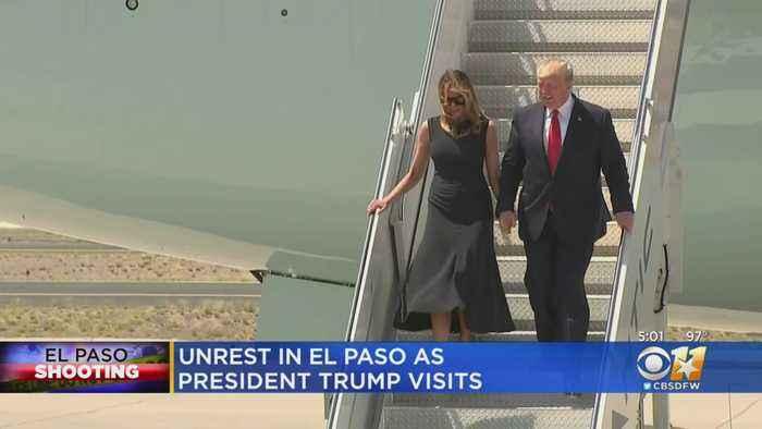Tensions High In El Paso As President Trump Visits