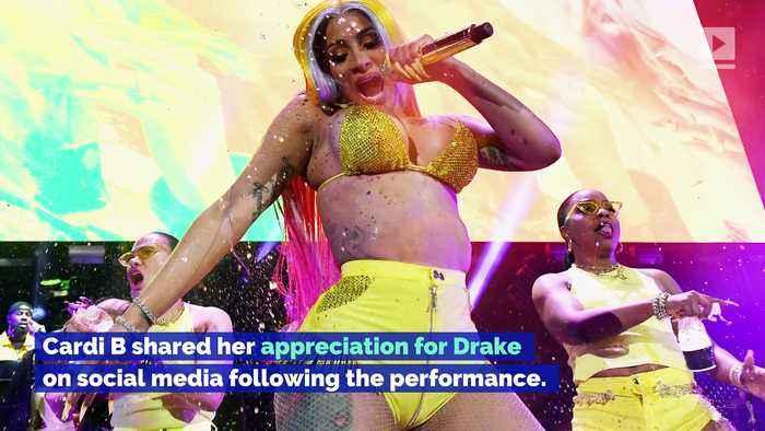 Cardi B and Megan Thee Stallion Make Appearances at Drake's OVO Fest