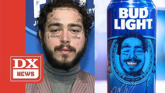 Post Malone's Face Is Now On Bud Light Beer Cans