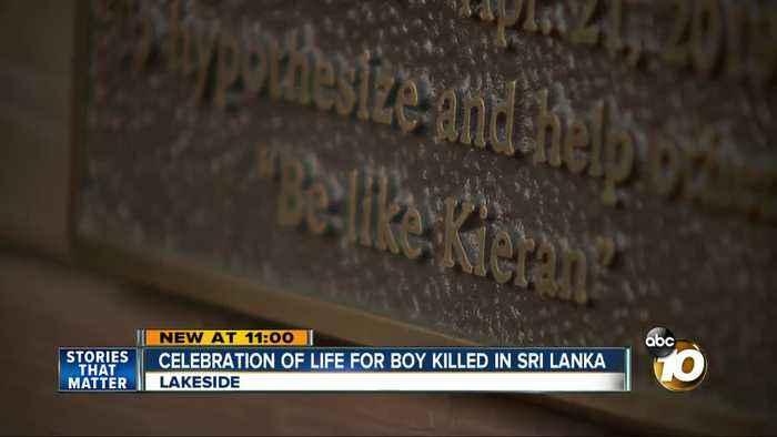 """Kieran's View"" bench unveiled in Lakeside for boy killed in Sri Lanka bombing"