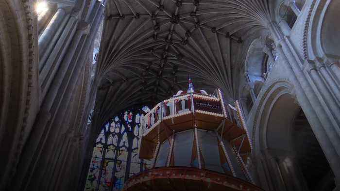 Helter skelter opens in Norwich Cathedral