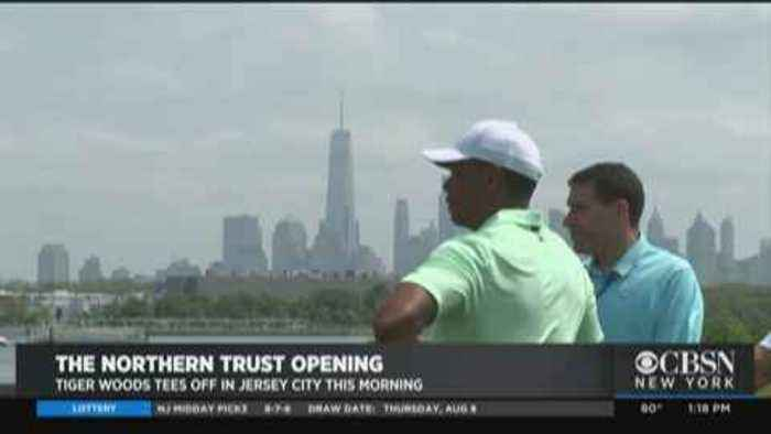 Tiger Woods Tees Off In New Jersey