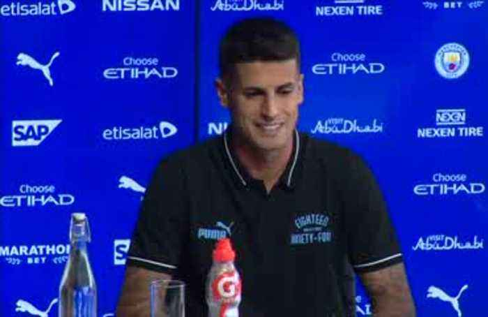 Man City unveil new signing Joao Cancelo