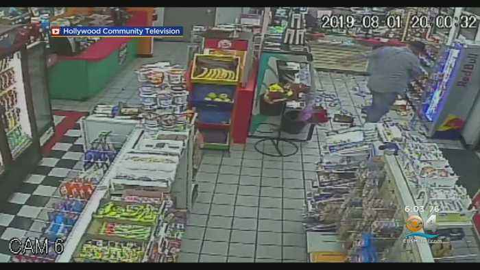 Hollywood Police Searching For Man Who Trashed Convenience Store & Beat Up Clerk