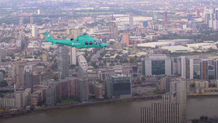 Deliveroo launches helicopter dining experience