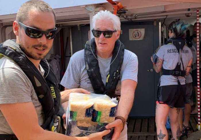 Richard Gere Visits Rescue Ship Carrying Over 100 Migrants