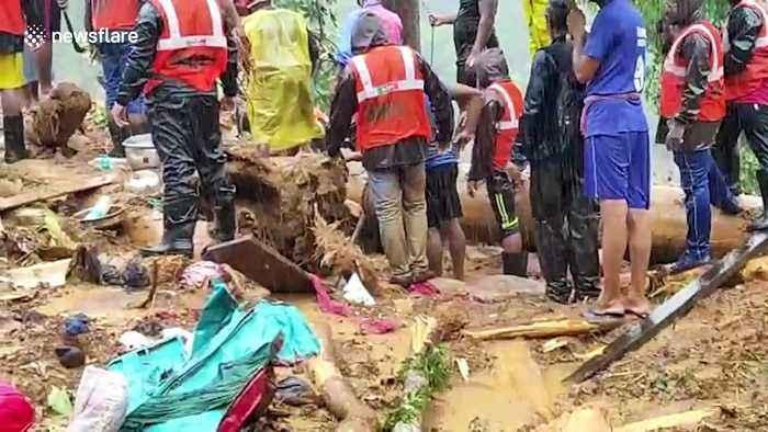 Massive monsoon landslide sweeps away a southern Indian village