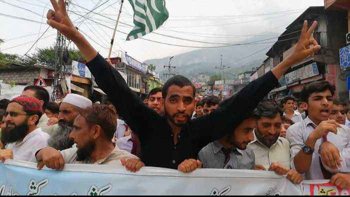 Protests in Pakistan-administered Kashmir after India's move