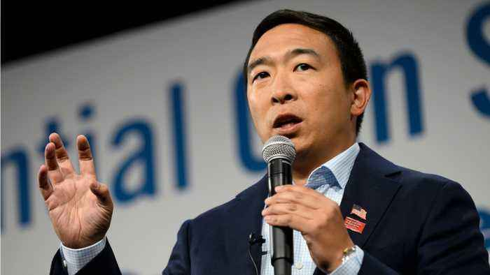 Andrew Yang Becomes Emotional During Iowa Town Hall