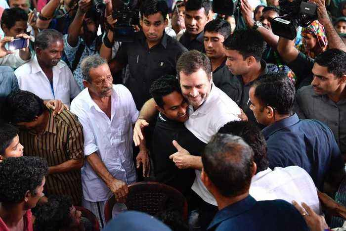 Rahul Gandhi meets victims at Wayanad, assures support to 'rebuild lives'