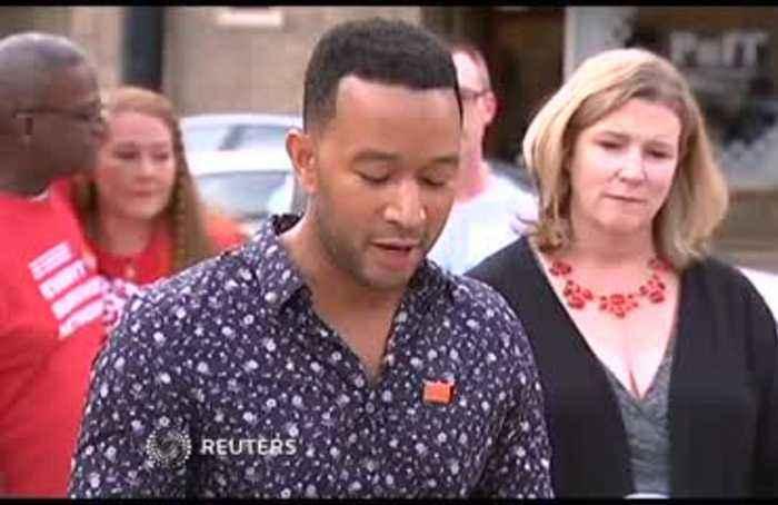 'We must do better': John Legend visits Dayton, Ohio