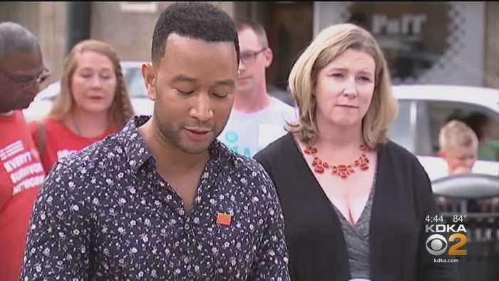 John Legend Visits Residents Of Dayton In Wake Of Shooting
