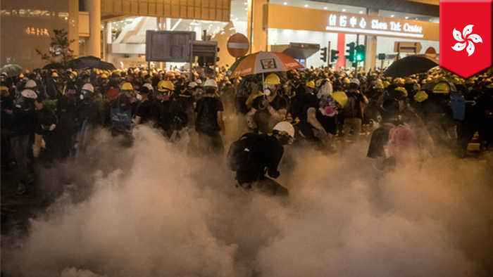 Hong Kong police fire tear gas, rubber bullets into metro station