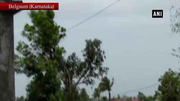 Crocodile lands on roof of house in flood affected Karnataka