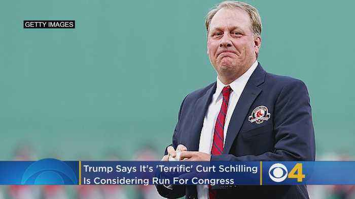 Trump Says It's 'Terrific' That Curt Schilling Is Considering A Run For Congress In Arizona