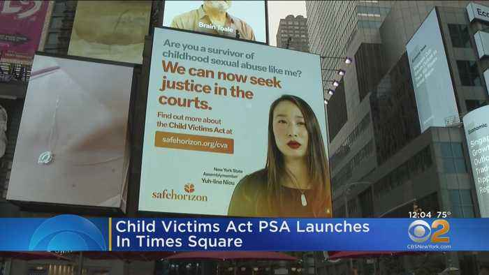 Child Victims Act PSA Launches In Times Square