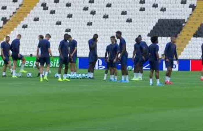 Lampard's Chelsea train for Super Cup clash with Liverpool