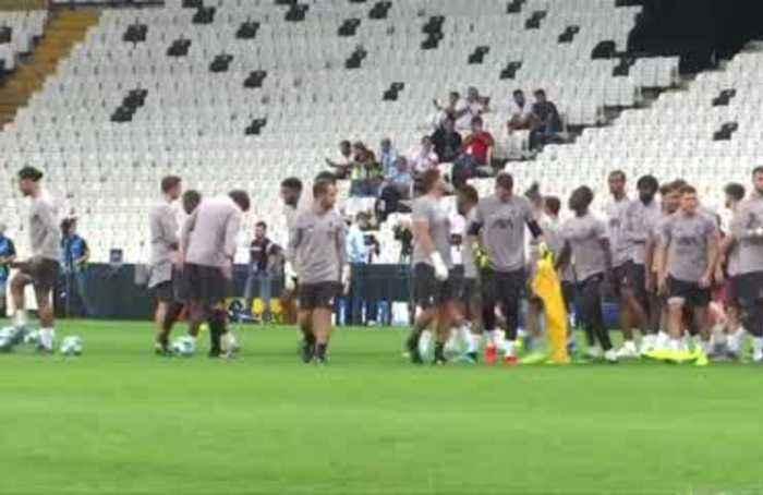 Liverpool train ahead of Super Cup clash