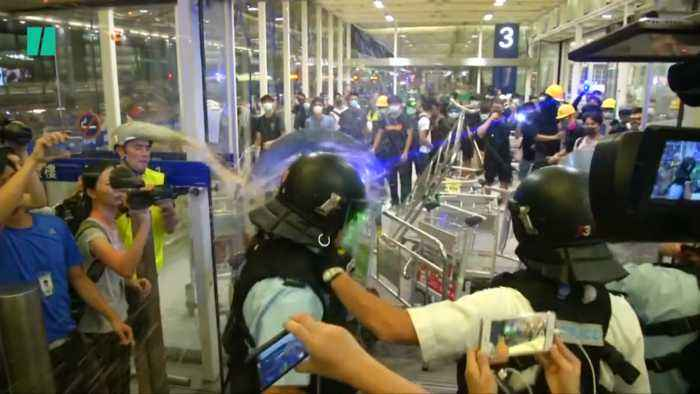 Chaos Breaks Out At Hong Kong Airport