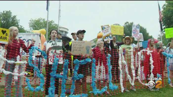 Protesters At Shell Cracker Plant