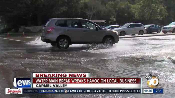 Water main break wreaks havoc on business