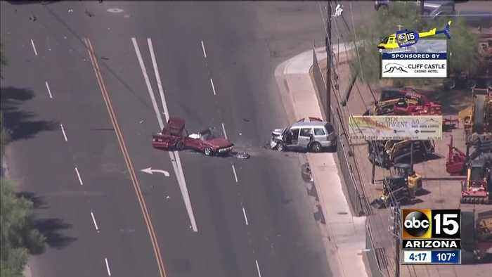 One killed in crash near 7th Avenue and Broadway