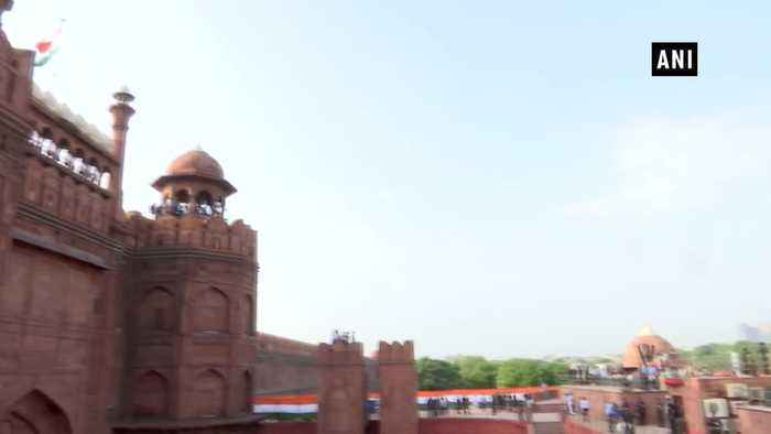 Full dress rehearsal held at Red Fort ahead of 73rd Independence Day