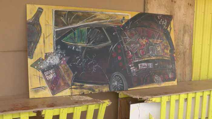 Candy Store Owners Laugh Off Car Crash