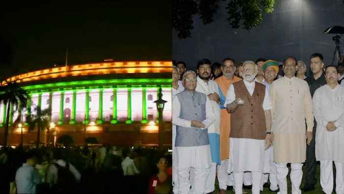 Watch: Parliament gleams with new lighting system ahead of Independence Day