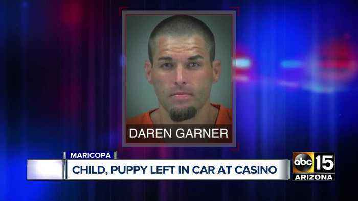 Child, puppy left in car at casino