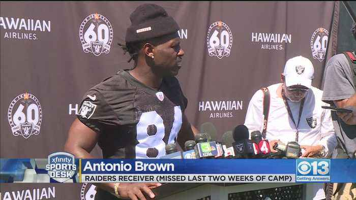 Antonio Brown Returns To Raiders Training Camp