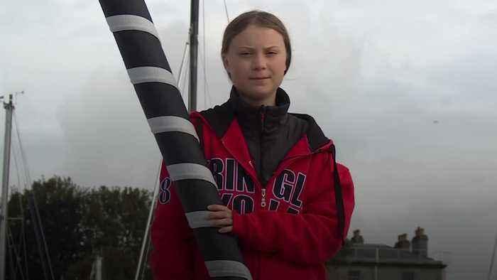 Greta Thunberg prepares to set sail