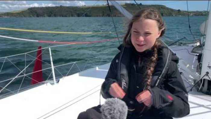 Greta Thunberg sets off for US climate summit