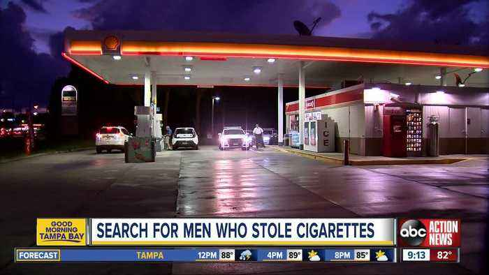 Deputies search for men who stole cigarettes from Circle K gas stations in Tampa