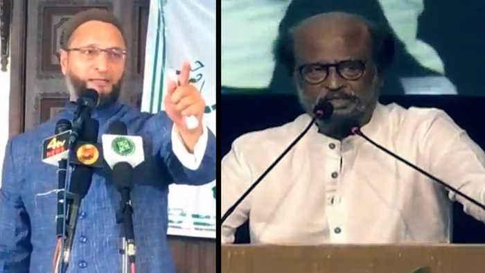 Art 370: Owaisi targets Rajinikanth for Krishna-Arjun analogy for Modi-Shah