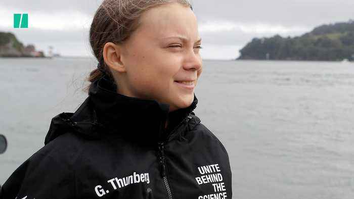 Climate Activist Greta Thunberg Begins Journey Across The Ocean