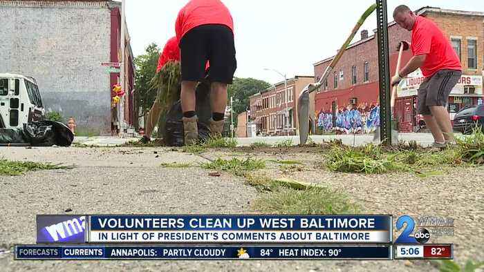 Environmental and sanitation groups work together to clean up West Baltimore