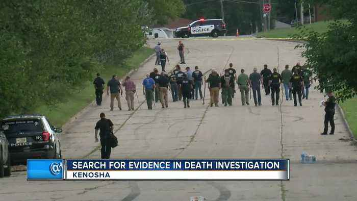 Search for evidence in death investigation in Kenosha